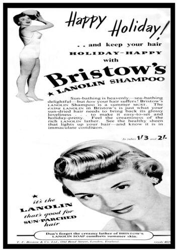 Reproduction. poster Wall art Bristows shampoo : Vintage  advertising