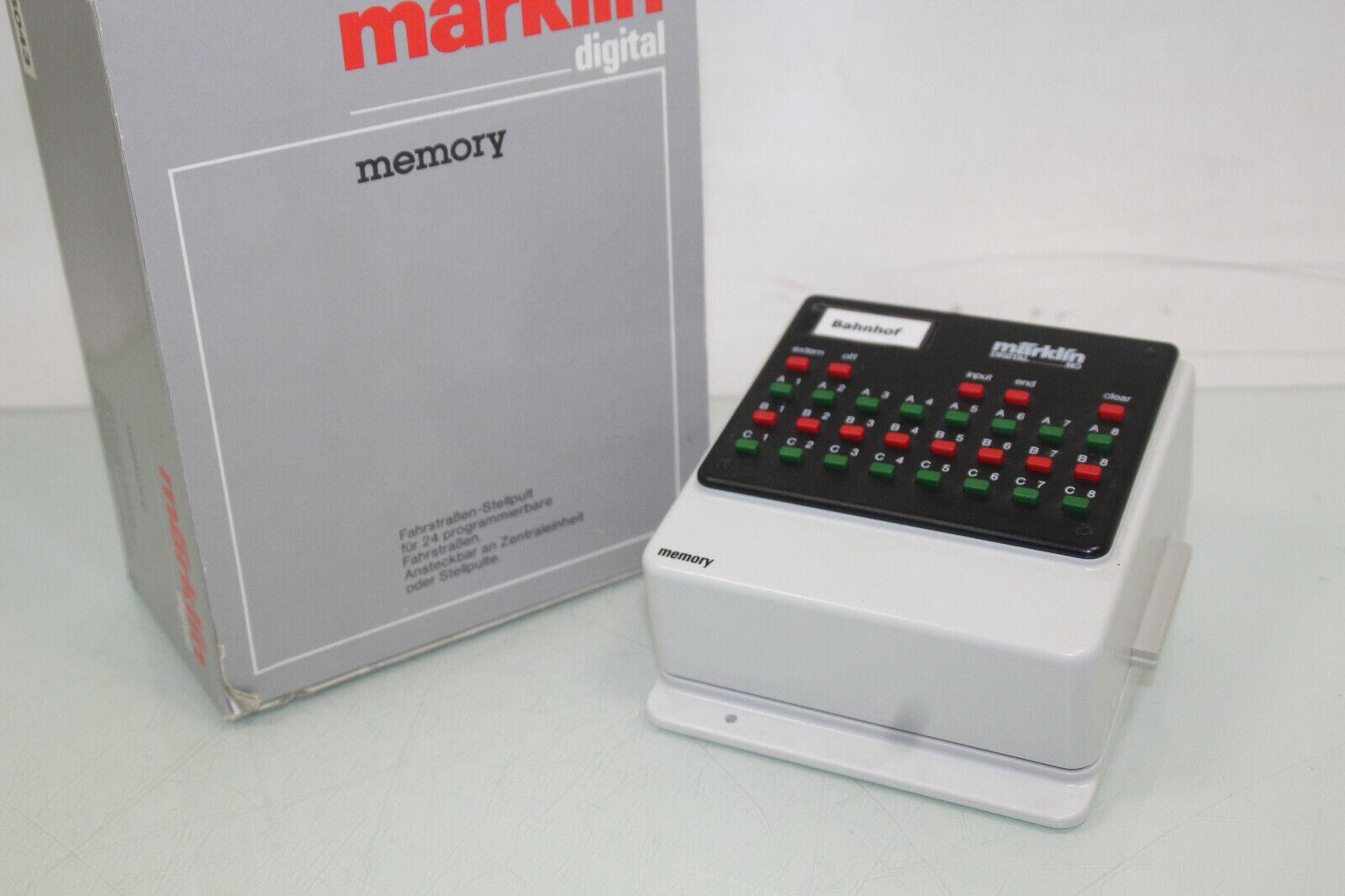 Märklin Digital 6043 Memory Fahrstraßen-Stellpult in OVP (SL8941)