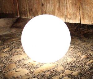 Kugelleuchte Gartenkugel Gartenkugelleuchte Gloworb White 38cm ø