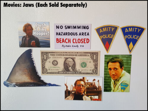 Fridge Fun Refrigerator Magnet JAWS MOVIE Quint Robert Shaw Photo 70s retro