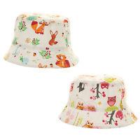 Baby Toddler Cute Print Bush Hat Summer Sun Kids Girls Boys 6 Months - 3 Years