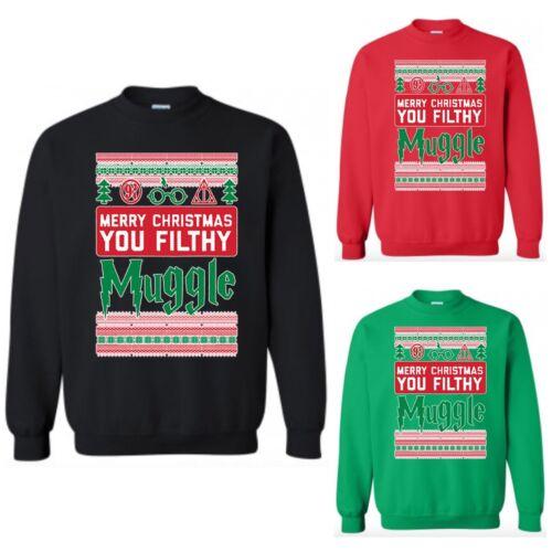 Harry Potter Joyeux Noël Sale moldu Sweat Ugly X-MAS Sweater