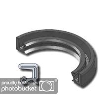 EAI VITON Metric Oil Shaft Seal 8x22x7mm Dust Grease TC Double Lip w// Spring