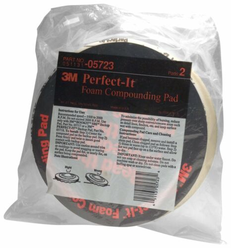 "3M 05723 8/"" Foam Compounding Pad, Pack of 2"