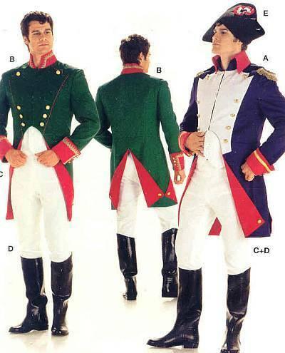 rotrock Patrones de corte burda 2471 caballeros disfraz Outlander cosplay talla 46-58