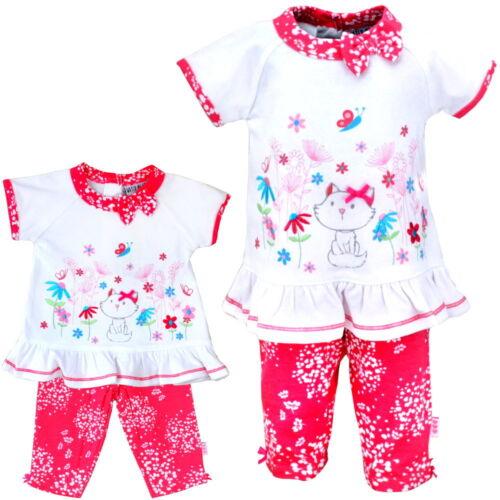 2-teiliges Baby-Set Mädchen Kleid und Hose Freizeitanzug Schlafanzug Baumwolle
