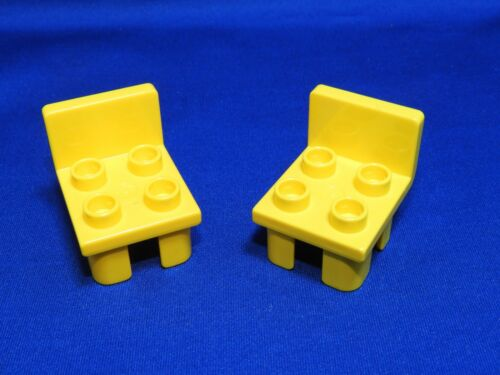 Lego Duplo Minifiure Accessory Lot of 2 YELLOW Chairs