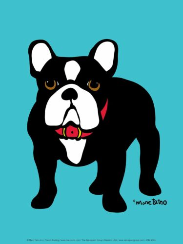 French Bulldog by Marc Tetro Art Print Poster Dog Puppy 12x9.5