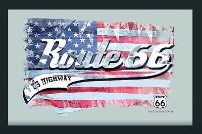Route 66 Specchio Vintage Bandiera Mirror Specchio A Parete Bar Pub 30cm- Adatto Per Uomini, Donne E Bambini