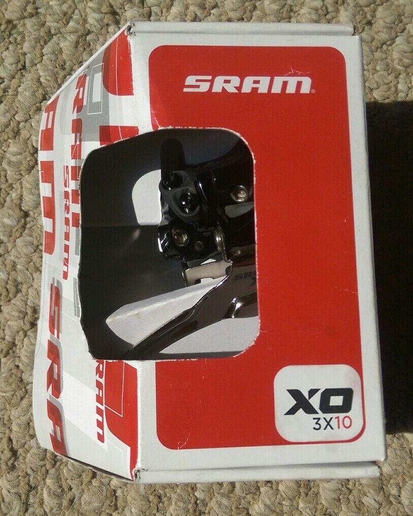 SRAM XO 3x10, Front Derailleur, Dual Pull, High Clamp, 10 speed 31.8mm