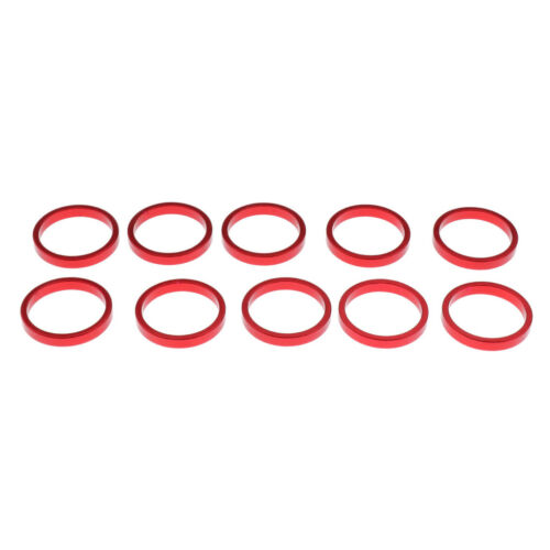 """10Pcs 1-1//8/"""" Bicycle Headset Washers Set Alloy Bike Front Stem Spacer 28.6mm"""