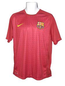 Nuevo-Nike-Barcelona-Entrenamiento-de-futbol-Previo-Partido-Camisa-Roja-Puntos-M