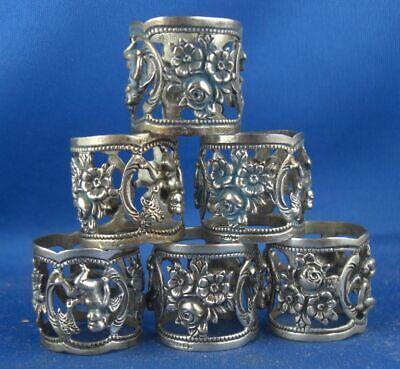 Gerade 6x Serviettenring Bodemer Hildesheimer Rose Putten 835er Silber