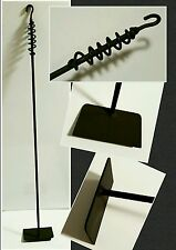 """Wood Stove/Fireplace Ash/Coal Rake 35"""", Made in US by a Blacksmith"""