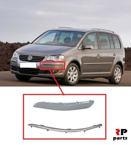 FOR VW TOURAN 2007-2010 NEW FRONT BUMPER MOLDING LEFT N//S WITH CHROME STRIP
