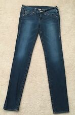 """TRUE RELIGION BRAND JEANS SECTION JULIE USA IMPORTED FABRIC SZ W 32 L 34 RISE 9"""""""