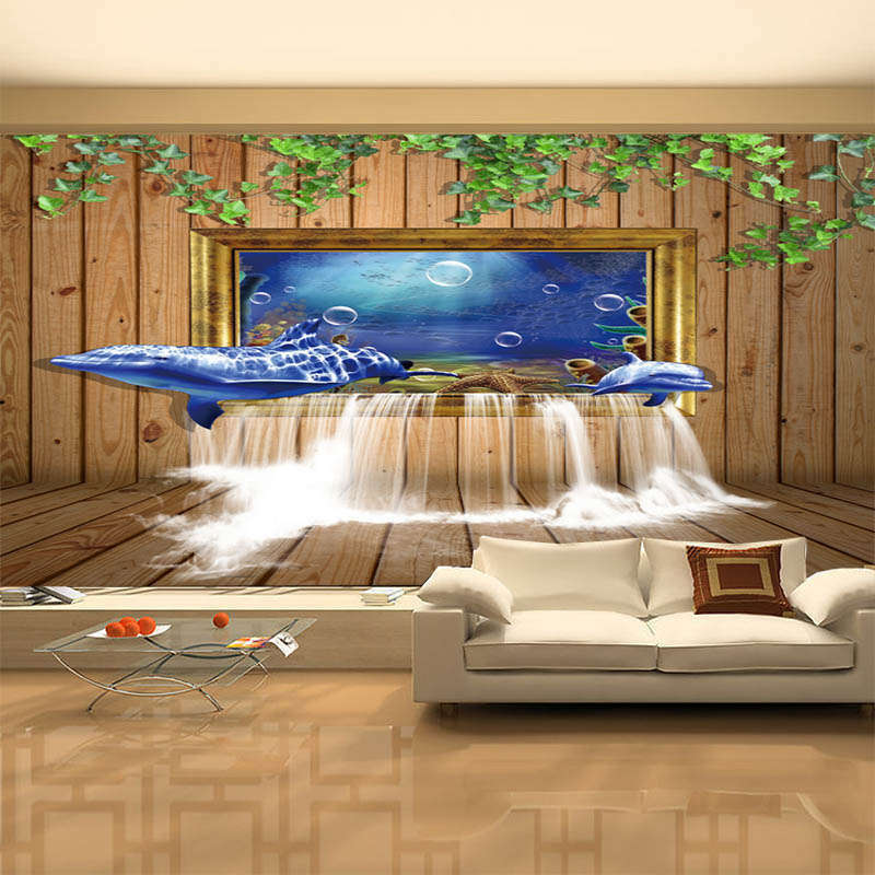 Delicate bluee Falls 3D Full Wall Mural Photo Wallpaper Printing Home Kids Decor