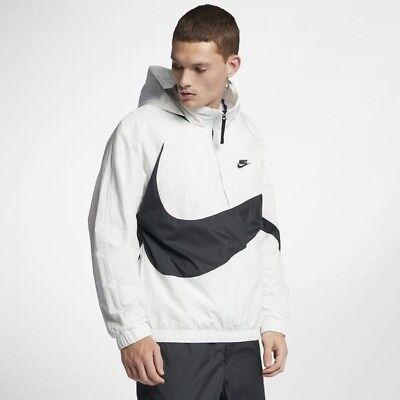 Nike Sportswear Anorak Big Swoosh Half-Zip Windbreaker Jacket L $120 AJ1404-122