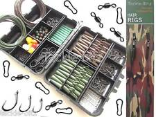 Fishing Tackle Box New Carp Weights Safety Clips Hooks Swivels Hair rigs