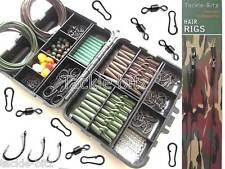 Fishing Tackle Box Nuovo Carpa pesi clip di sicurezza ganci girevoli capelli Rigs