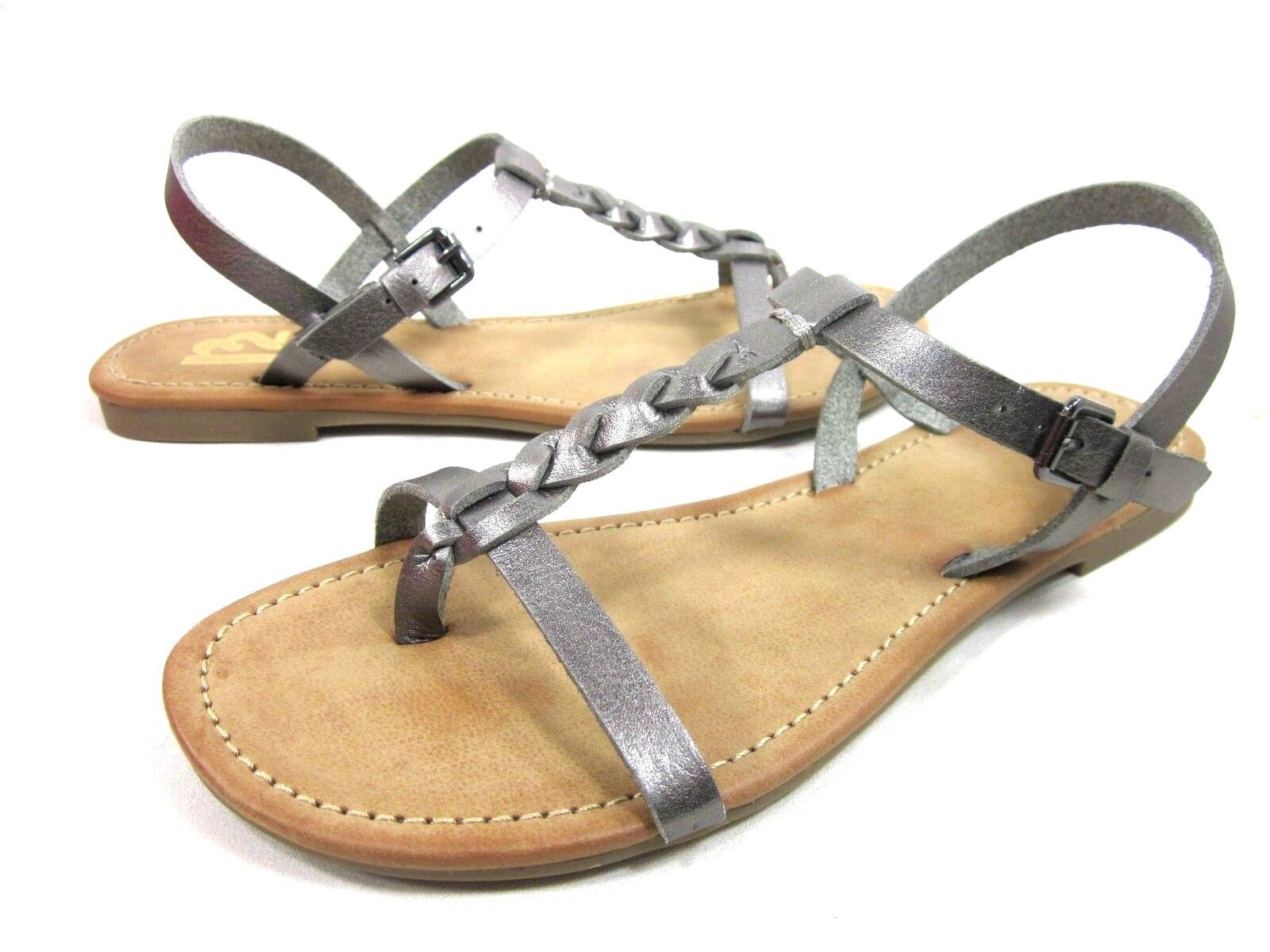 R2 FOOTWEAR FASHION WOMEN'S CAYMAN T-STRAP THONG FASHION FOOTWEAR SANDALS,PEWTER,MEDIUM,NEW e2f63c