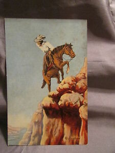 TRAIL OF LIFE #2 c. L.H.DUDE LARSON NOTED ARTIST & POET POSTCARD 1941