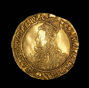 Medieval-English-Hammered-Gold-Pound-Sovereign-Coin-of-Queen-Elizabeth-I-1594