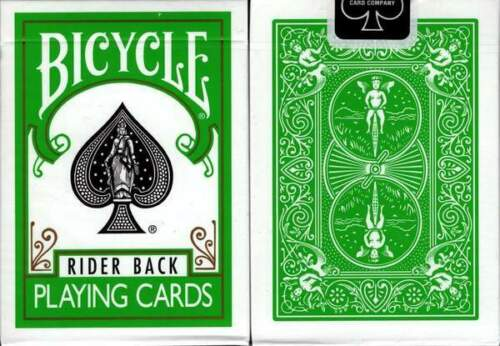 Bicycle Rider Back Green Playing Cards Standard Deck Made in USA