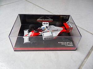 Mclaren Tag Porsche Mp4 / 2c Keke Rosberg N ° 2 Minichamps 1/43 Gp Britannique 1986 F1