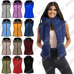 Ladies-Gilet-Quilted-Padded-Body-Warmer-Sleeveless-Fur-Collar-Puffer-Jacket-Coat