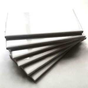 3x6 White Glossy Ceramic Subway Tile Wall Backsplash Made