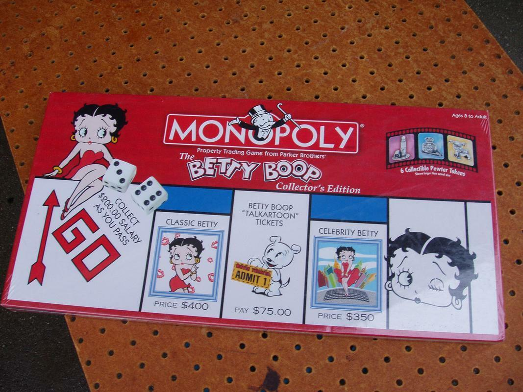 BETTY BOOP MONOPOLY BOARD GAME COMPLETE COLLECTOR'S EDITION PEWTER NEW NIB