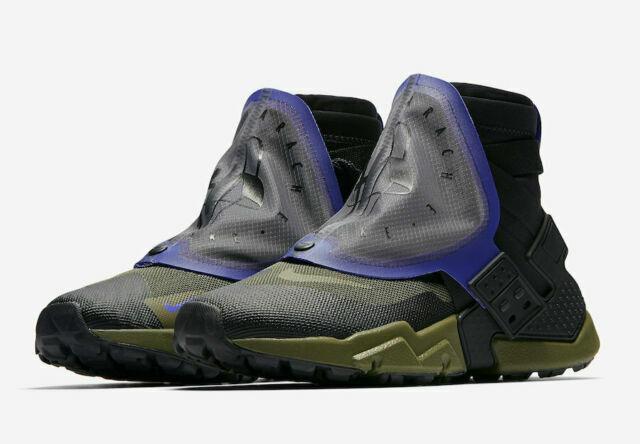 Mens Nike Air Huarache Gripp QS Shoes Size 10 Olive Black At0298 001