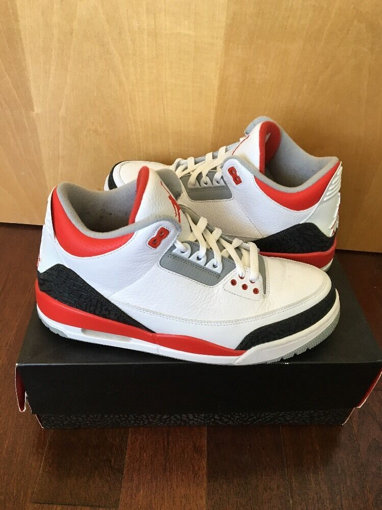 Jordan Retro 3 Fire Red Men's Size 9.5