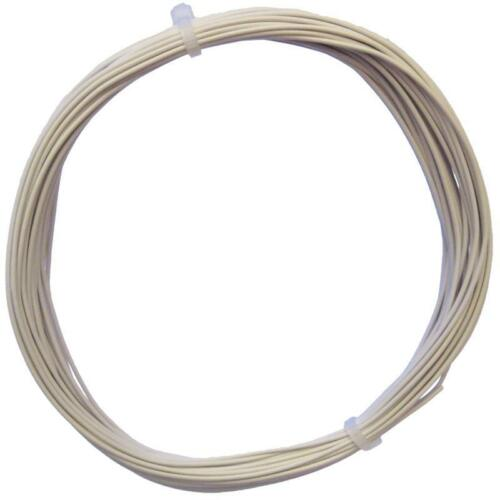 10m Trefolo Bianco-einadrig flessibile 0,14mm² 0,24 €//m