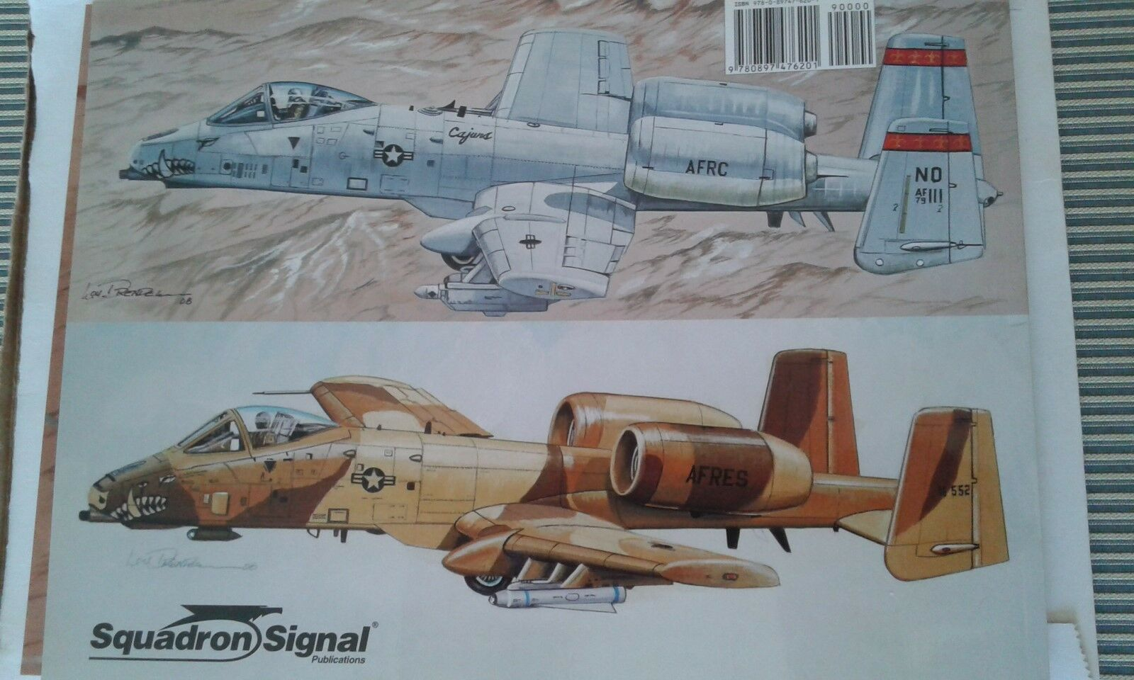 A-10 WARTHOG-SQUADRON SIGNAL IN IN IN ACTION COLOR SERIES N.1218-BY LOU DRENDEL -RARE  b407bd
