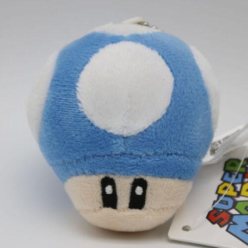 10 Styles Super Mario Bros Mushroom 7cm Stuffed Plush Doll Toy Soft Keychain