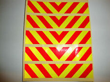 5 REFLECTIVE CHEVRON MOTORBIKE HELMET STICKERS IOM TT CARS, POLICE SAFETY BIKES