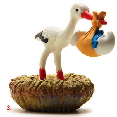 Inteligente Puffo Puffi Smurf Smurfs Schtroumpf 4.0248 40248 Stork With Baby Cicogna 3a