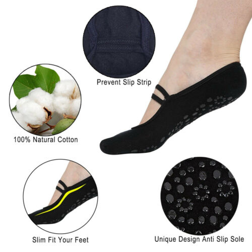 Sole Silicone Dot Sock Non Skid Socks with Grips for Barre Pilates Ballet Socks