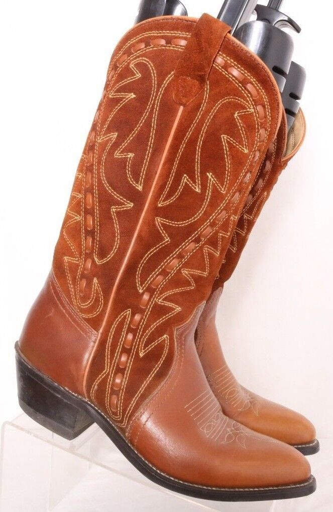 Durango USA Woven Pointed Suede Leather Cowboy Western Boots Men's US 7