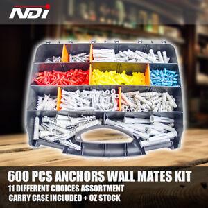 600-PCS-Wall-Mate-Plasterboard-Anchors-Wallmate-Nylon-Anchor-Assortment-Kit