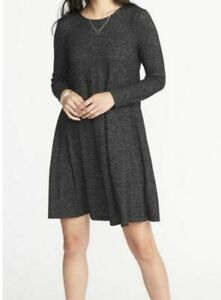 NWT-OLD-NAVY-Knit-Swing-Dress-Heather-Gray-Size-M