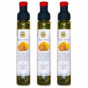 3x-Olio-al-Tartufo-Bianco-Extravergine-di-Oliva-Sicilia-80ml-1gr-condimento-ar