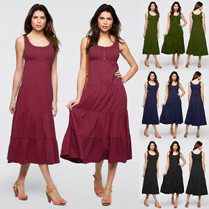 Womens-Oversized-Loose-Baggy-Long-Tops-Shirt-Sleeveless-Casual-Tunic-Maxi-Dress