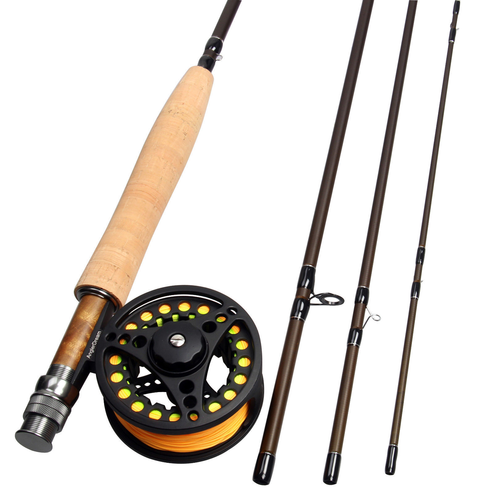 358WT Fly Fishing Combo Carbon Fiber Fly Rod Large Arbor Fly Reel Combo Line