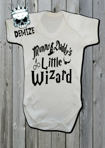 Harry Potter Baby Grow Vest Mummy and Daddy/'s Little Wizard Gift Hogwarts