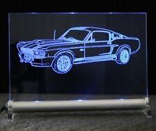LED Schlid mit Mustang Eleanor Shelby GT500 Gravur als Geschenk Leuchtschild