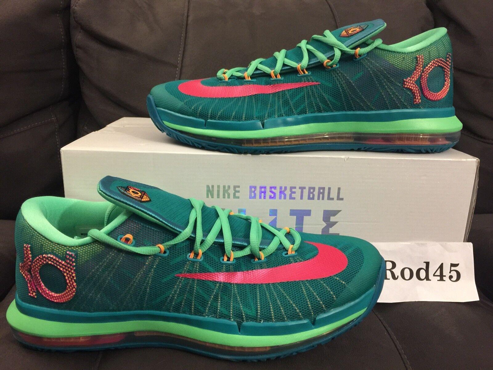 Nike kd vi 6 elite verde rosa blu kevin durant 11 s