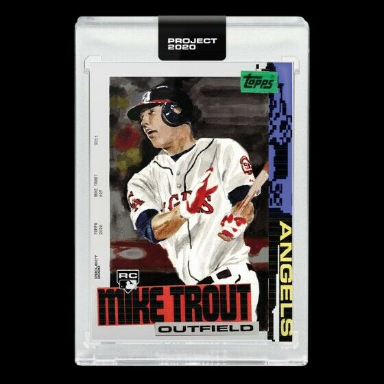 Mike Trout Topps PROJECT 2020 2011 Card #85 by Jacob Rochester 🔥 PREORDER
